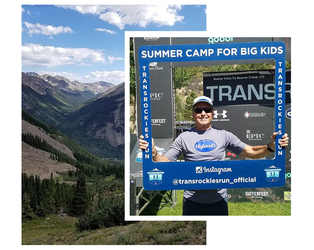 Mike Ehredt on the Trans Rockies run