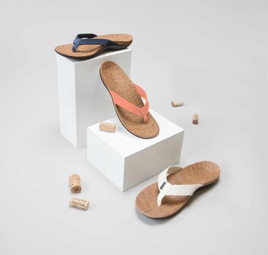 SOLE and ReCORK recycled cork sandals