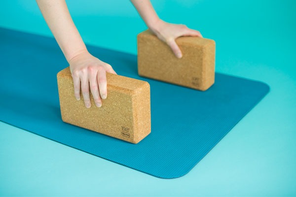 The 198* Block: 198 recycled corks in a yoga and exercise block you'll love.