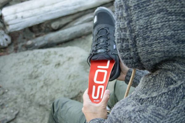 SOLE Wide footbeds: supportive insoles for natural splay footwear.