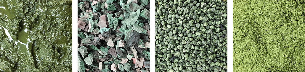 Bloom algae foam pellets and production
